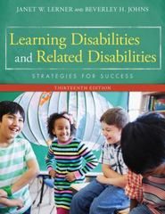 Learning Disabilities and Related Disabilities 13th Edition 9781285433202 1285433203