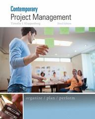 Contemporary Project Management 3rd Edition 9781285433356 1285433351