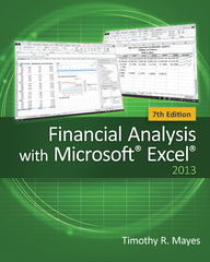 Financial Analysis with Microsoft Excel 7th Edition 9781285432274 1285432274