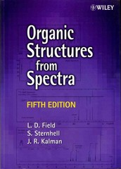 Organic Structures from Spectra 5th edition 9781118325490 1118325494