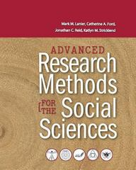 Advanced Research Methods for the Social Sciences 0 9781621315988 1621315983
