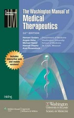 The Washington Manual of Medical Therapeutics, Print + Online 34th Edition 9781451188516 145118851X
