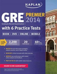 Kaplan GRE Premier 2014 with 6 Practice Tests 1st Edition 9781609789367 1609789369