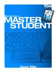 Discovery Wheel for Ellis' Becoming a Master Student, 15th 15th Edition 9781285437194 1285437195