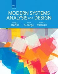 Modern Systems Analysis and Design 7th Edition 9780132991308 0132991306