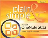 Microsoft OneNote 2013 Plain & Simple 1st Edition 9780735669345 0735669341