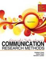 Straight Talk about Communication Research Methods 2nd edition 9781465209191 1465209190