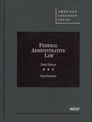 Federal Administrative Law 6th edition 9780314282002 0314282009