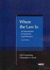 Where the Law Is 4th Edition 9780314282330 0314282335
