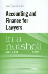 Accounting and Finance for Lawyers 5th Edition 9780314285645 0314285644