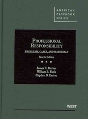 Professional Responsibility 4th Edition 9780314908858 0314908854