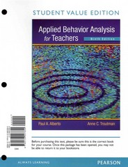 Applied Behavior Analysis for Teachers, Student Value Edition 9th edition 9780133007855 0133007855