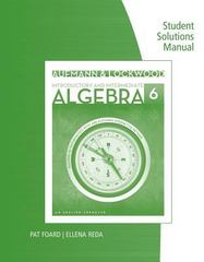 Student Solutions Manual for Aufmann/Lockwood's Introductory and Intermediate Algebra: An Applied Approach 6th Edition 9781285417622 1285417623