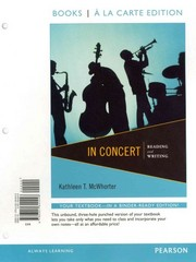 In Concert: Reading and Writing, Books a la Carte Plus NEW MySkillsLab with eText -- Access Card Package 1st Edition 9780321915726 0321915720