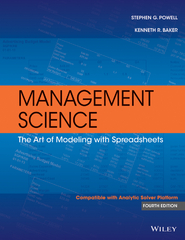 Management Science 4th Edition 9781118801277 111880127X