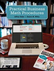 Practical Business Math Procedures 11th Edition 9780073377544 0073377546