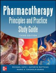 Pharmacotherapy Principles and Practice Study Guide 3/E 3rd Edition 9780071801782 0071801782