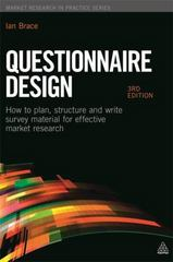 Questionnaire Design 3rd Edition 9780749467791 0749467797