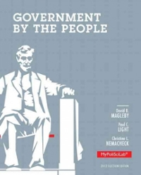 Government by the People, 2012 Election Edition 25th Edition 9780205865789 020586578X