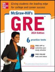 McGraw-Hill's GRE, 2014 Edition 5th Edition 9780071817486 0071817484