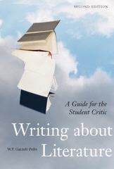 Writing About Literature 2nd Edition 9781551117430 1551117436
