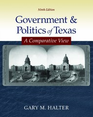 Government & Politics of Texas 1st Edition 9780073526416 007352641X