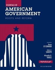 Essentials of American Government 11th Edition 9780205883998 0205883990