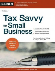 Tax Savvy for Small Business 17th Edition 9781413319460 1413319467