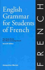 English Grammar for Students of French 7th Edition 9780934034425 0934034427