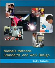 Niebel's Methods, Standards, & Work Design 13th Edition 9780073376363 0073376361