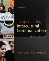 Experiencing Intercultural Communication 5th Edition 9780078036927 0078036925