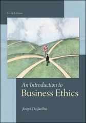 An Introduction to Business Ethics 5th Edition 9780078038327 0078038324