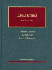 Legal Ethics 6th Edition 9781609302085 1609302087