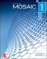 Mosaic Level 1 Reading Student Book 6th Edition 9780077595111 0077595114