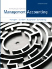 Introduction to Management Accounting 16th edition 9780133058789 0133058786
