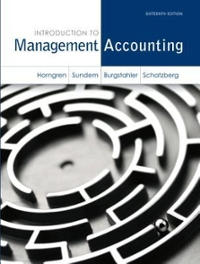 Introduction to management accounting 16th edition rent introduction to management a 16th fandeluxe Choice Image