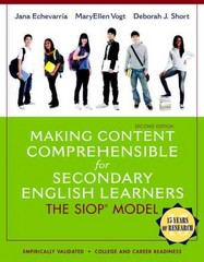 Making Content Comprehensible for Secondary English Learners 2nd Edition 9780133362770 0133362779
