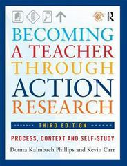 Becoming a Teacher through Action Research 3rd Edition 9781317963868 1317963865
