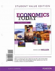 Economics Today 17th edition 9780133405293 013340529X