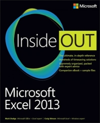 Microsoft Excel 2013 Inside Out 1st Edition 9780735674301 0735674302