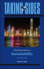 Taking Sides: Clashing Views in Sustainability 2nd Edition 9780073514536 0073514535