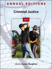 Annual Editions: Criminal Justice 13/14 37th edition 9780078136092 0078136091