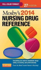 Mosby's 2014 Nursing Drug Reference 27th edition 9780323170079 0323170072