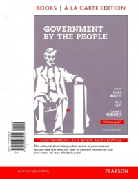 Government By the People, 2012 Election Edition, Books a la Carte Edition 25th edition 9780205936014 0205936016