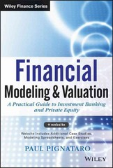 Financial Modeling and Valuation 1st Edition 9781118558744 111855874X