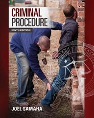 Criminal Procedure 9th Edition 9781285457871 1285457870