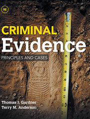 Criminal Evidence 9th Edition 9781285459004 1285459008