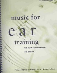 Music for Ear Training (with CD-ROM) 3rd edition 9780495565710 0495565717