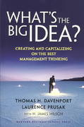 What's the Big Idea? 0 9781578519316 1578519314