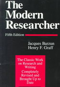 The Modern Researcher 5th edition 9780155625136 0155625136